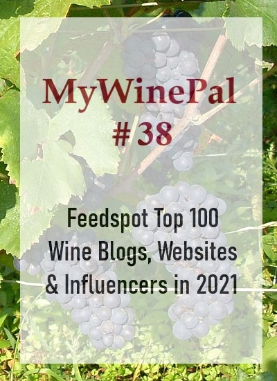 MyWinePal Top 38 Feedspot Wine Blogger Ranking for 2021